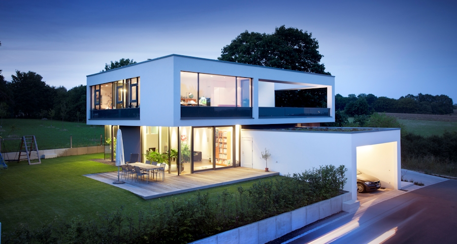 R f rences gira bauhaus cologique for Zweifamilienhaus bauhausstil