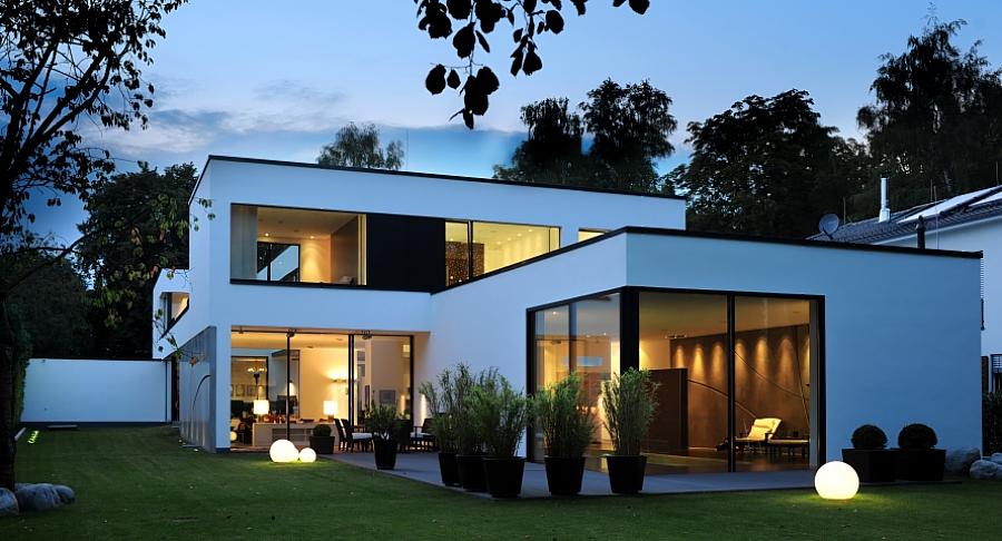 Gira referenties stadvilla in hamburg - Moderne entreehal ...