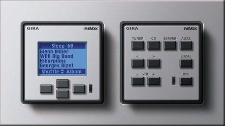 gira control unit for the revox multiroom system design variants. Black Bedroom Furniture Sets. Home Design Ideas